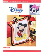Mickey & Minnie Afghans Crochet Patterns Book Disney  - $21.99