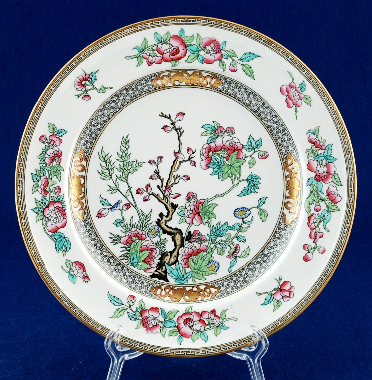 """Minton Indian Tree 9"""" Lunch Plate 5185 Circa 1840 - $24.95"""