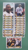 1993 Topps Los Angeles Rams Football Team Set  - $4.00