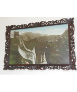 Vintage Photos China Wall in Carved Frame - $275.00