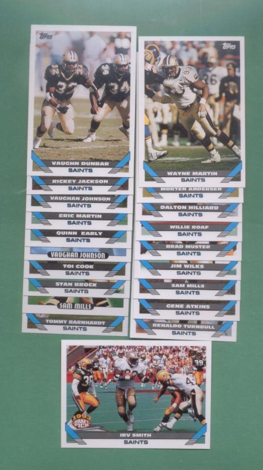 1993 Topps New Orleans Saints Football Team Set