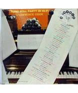 J. LAWRENCE COOK piano roll party in hi-fi LP - $19.95