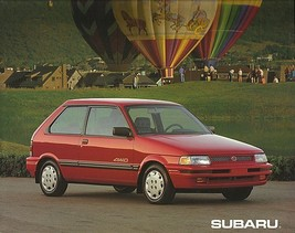 1992 Subaru JUSTY sales brochure catalog US 92 GL AWD - $8.00