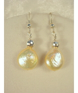 Earrings with Freshwater Pearl, Sterling Silver French Wires - $35.00