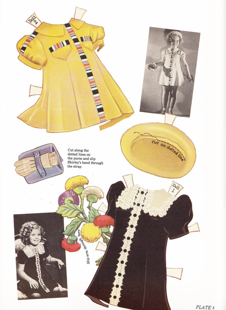 AUTHENTIC SHIRLEY TEMPLE PAPER DOLLS AND DRESSES MARTA KREBS