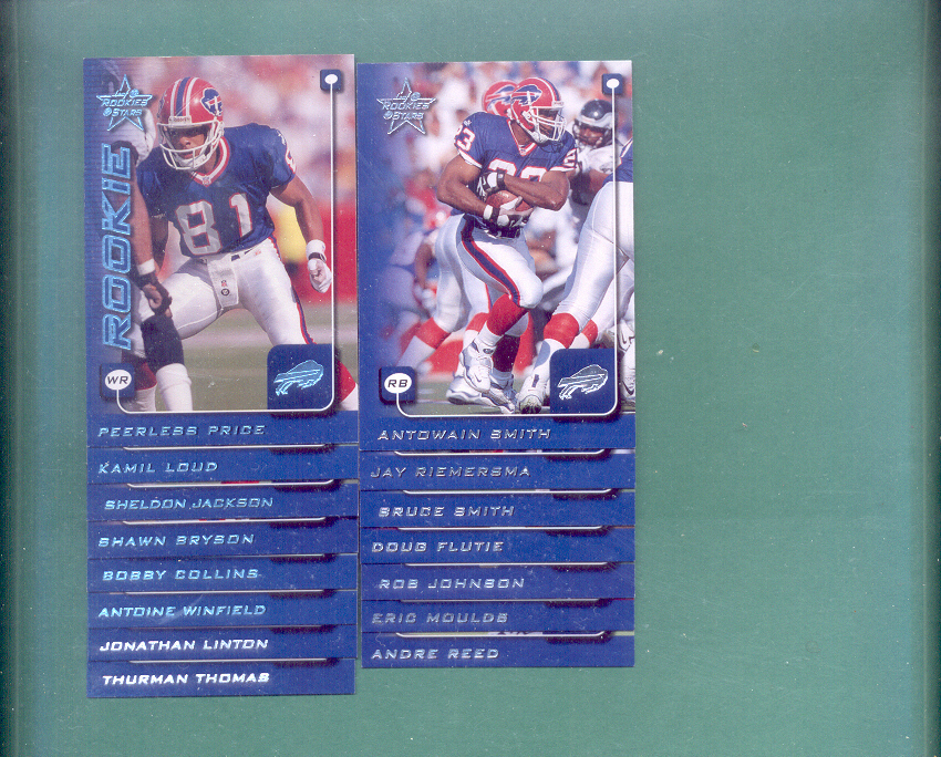 1999 Leaf Rookies And Stars Buffalo Bills Team Set
