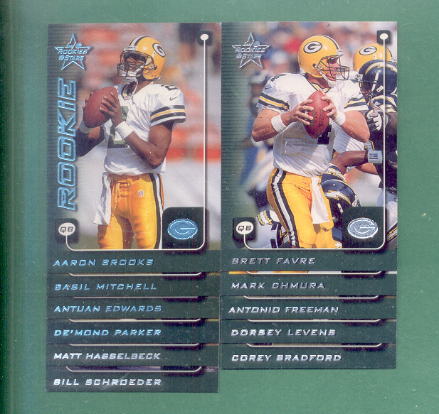 1999 Leaf Rookies And Stars Green Bay Packers Team Set