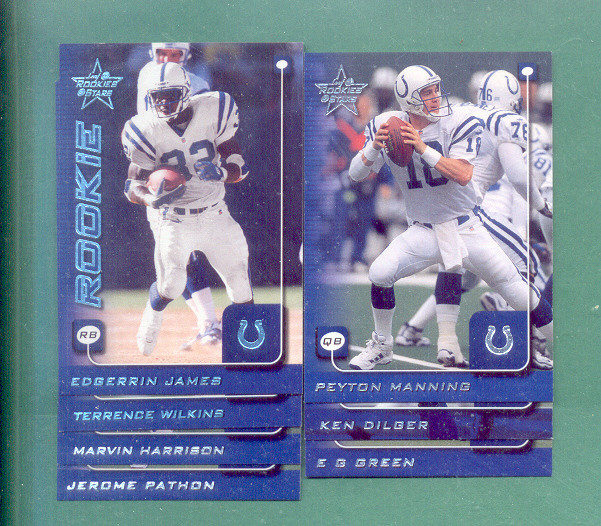 1999 Leaf Rookies And Stars Indianapolis Colts Team Set