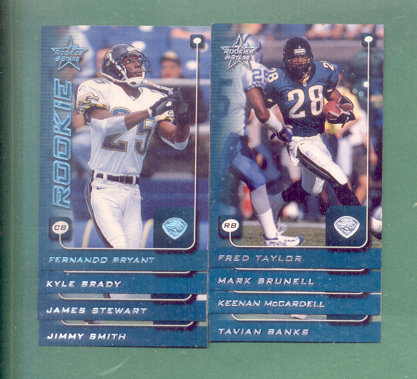 1999 Leaf Rookies And Stars Jacksonville Jaguars Team Set