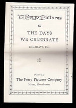 The Perry Pictures for the Days We Celebrate Catalog 1927 Holidays - $11.01