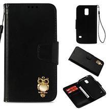 Galaxy S5 Case,Gloryshop Bling Crystal Owl Wallet Cover Flip Folio Leath... - $7.91