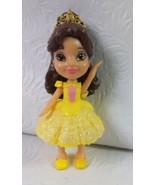 "Disney Princess Posable Mini Belle Princess Doll 3.5"" Tall - $7.92"