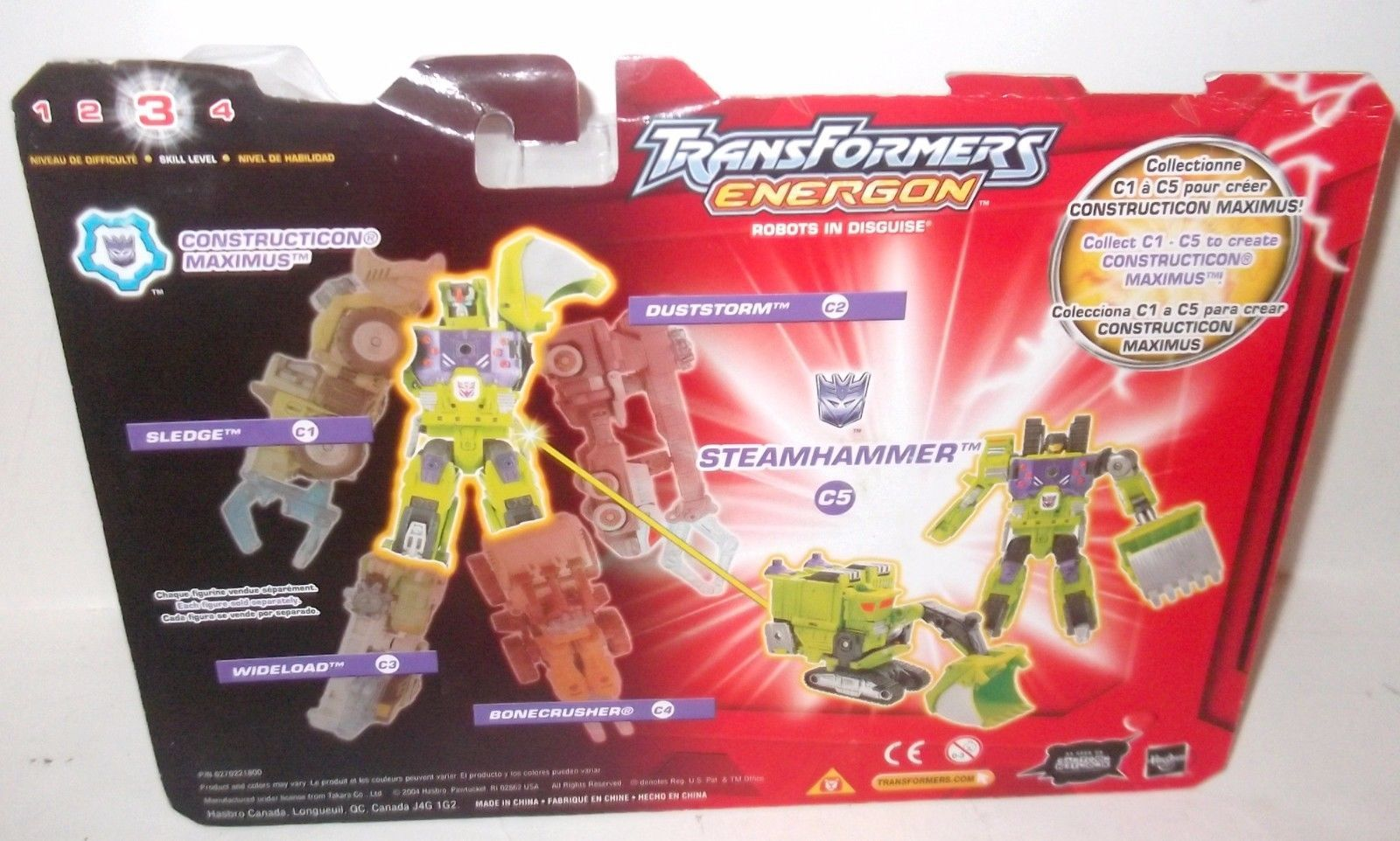 Transformers Energon STEAMHAMMER DELUXE Hasbro figure MOC sealed loose or carded image 3
