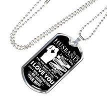 Sweet Husband Wife Dog Tag Chain Men's Jewelry Perfect Gift For Men On V... - $34.95+
