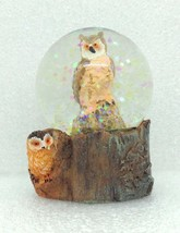 Mini Owl Snow Globe Figurine Home Decor Gift Wildlife 2.5 inch New GSC 2... - $7.71