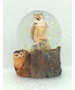 Mini Owl Snow Globe Figurine Home Decor Gift Wildlife 2.5 inch New GSC 2... - $7.71