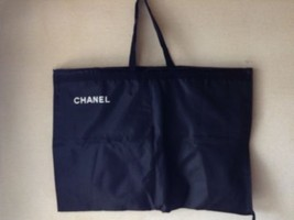 "Rare mint CHANEL  BLACK  56"" long coated suit hand Carry GARMENT BAG  CA... - $178.20"