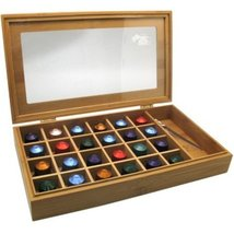 Modern Home Bamboo Nespresso 24 Capsule Organizer/Display Box with Acces... - $17.43