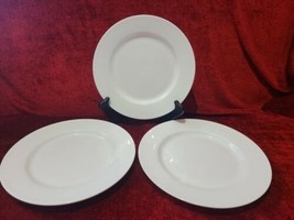Tabletops Unlimited Cascade Set of 3 Dinner Plate Solid White Bone China 10 5/8 - $33.66
