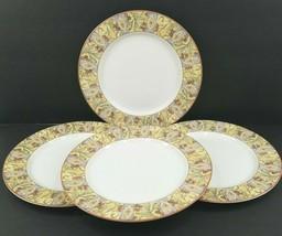 4 Royal Doulton Everyday Cinnabar Dinner Plates Vintage Fine China Mosai... - $79.17