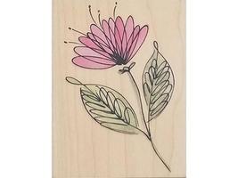 Hero Arts Flourish Flower Rubber Stamp #G4337