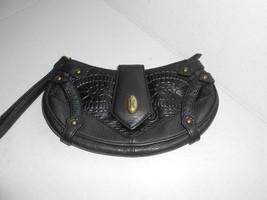 Cole Haan Mini Handbag Black Leather Clutch Wristlet  Wallet New Sample - $23.36