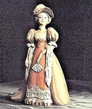 Ceramic Lady Figurine AB 245 Antique image 2