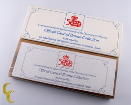 1492-1992 Official Caravel Bronze Collection 500 yr Commemorative Mint Sealed! - $34.65