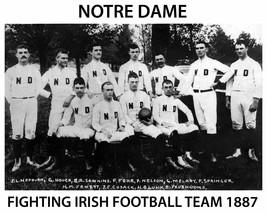 1887 NOTRE DAME TEAM 8X10 PHOTO FIGHTING IRISH PICTURE NCAA FOOTBALL - $3.95