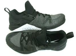 Nike Mens Metcon Flyknit 3 Training Running Shoes Black White Silver Siz... - $69.29