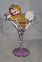 POMIKAZE Drink Glass Removable Pomeranian With Drink NWOB Glass Resin - $31.67