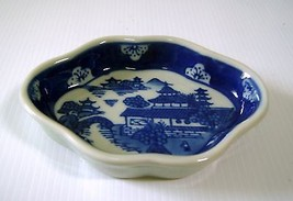 China porcelain plate blue & white with traditional landscape u - $24.56