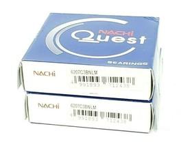 LOT OF 2 NEW NACHI 6207C3BNLM BEARINGS