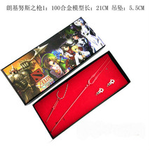 Neon Genesis Evangelion Lance of Longinus Necklace and Lovers Rings red - $14.65