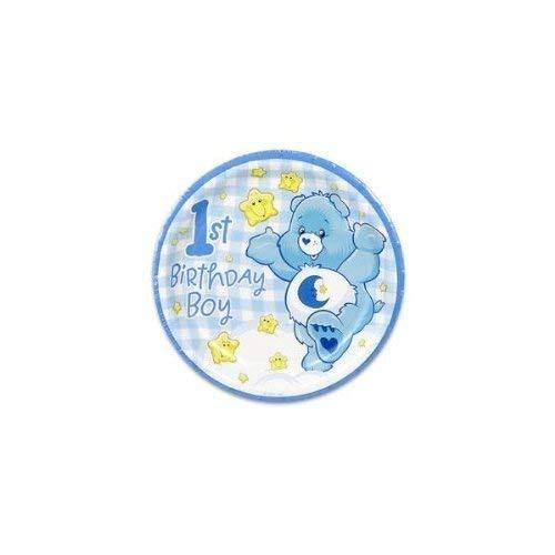 """None Care Bears Boy's First Birthday 7"""" Dessert Plates - 8 Count - $4.90"""