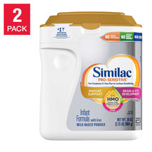 Baby Formula Similac 2-count Pro-Sensitive HMO Infant Immune Support 34-ounce - $98.47