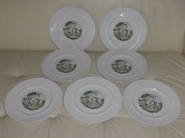 7 Johnson Bros Arcadia Ironstone Dinner Plates - $49.00