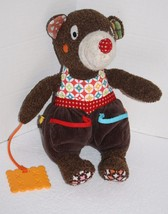 """Soft Toy MOUSE CHEESE TEETHER 12"""" Brown Plush Teddy Bear Pockets Stuffed... - $25.13"""