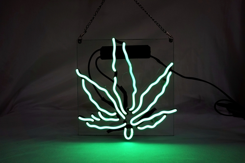 "Primary image for Brand New Leaf High Life Art Garage Real Neon Light Sign 10""x10"" [high Quality]"
