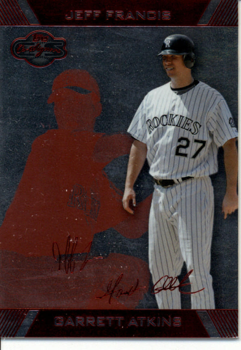 Primary image for 2007 Topps Co-Signers Silver Red #4A Garrett Atkins/Jeff Francis 167/199 Colorad