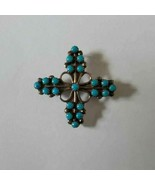 925 STERLING Silver Turquoise Pin Brooch Pendant $ 42 - $41.58