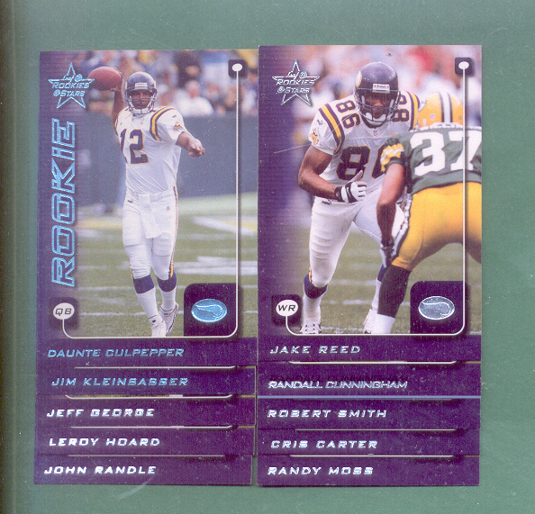 1999 Leaf Rookies And Stars Minnesota Vikings Team Set