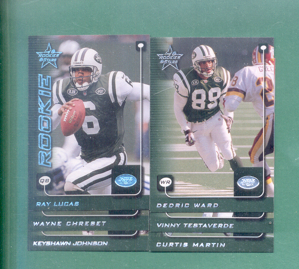 1999 Leaf Rookies And Stars New York Jets Team Set