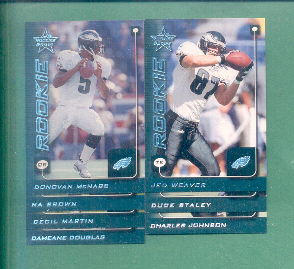 1999 Leaf Rookies And Stars Philadelphia Eagles Set