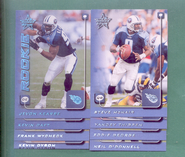 1999 Rookies And Stars Tennessee Titans Team Set