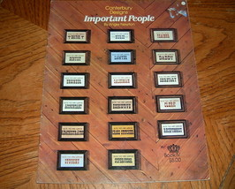 Important People 35 Professions for Cross Stitch - $5.00