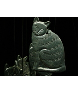 Kitty's Blowin' in the Wind Pewter Cat Spooniques Wind Chime - $15.00