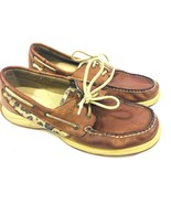 Sperry Top Sider Womens 9M Brown Leather Casual Boat Shoes CH196 - $12.22