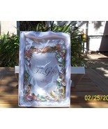 Fitz and Floyd Pewter Enamel Crystal Photo Frame Woodland Spring - $64.00