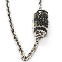 Silber Armband 925, Schlauch Engel, Zirkonia Schwarze, Roberto Giannotti... - $156.15